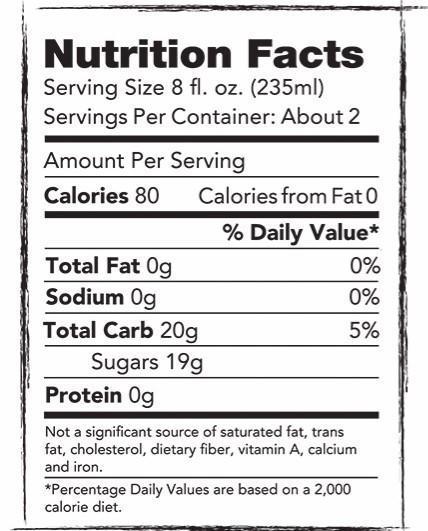 Nutritional Information Long Island Iced Tea